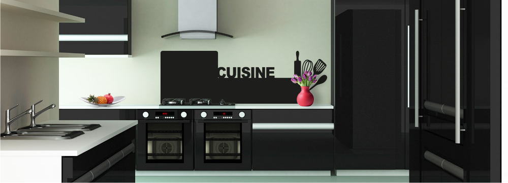 cuisine cuisine with stickers credence cuisine. Black Bedroom Furniture Sets. Home Design Ideas