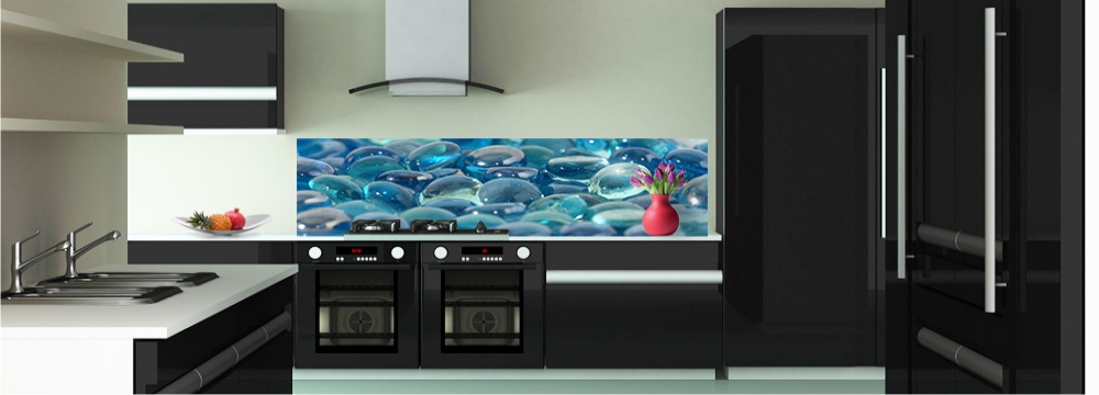 D co galets de verre cr dence zen toutes les cr dences zen pour votre cuisine sur cr dence d co - Credence decorative cuisine ...