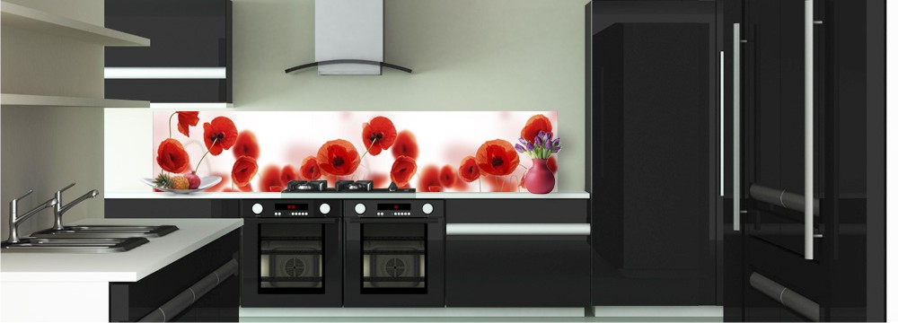 d co coquelicots cr dence toutes les cr dences pour votre cuisine sur cr dence d co. Black Bedroom Furniture Sets. Home Design Ideas
