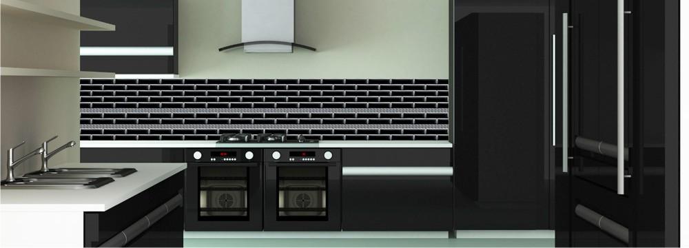 d co m tro noire style cr dence urbain toutes les cr dences urbain pour votre cuisine sur. Black Bedroom Furniture Sets. Home Design Ideas