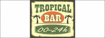 Déco Tropical Bar Fond de Hotte
